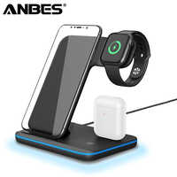3 In 1 Qi Wireless Charger for Apple watch 2 3 4 Airpods Fast Charging For iPhone XS Max XR X 8 Samsung S9 S8 Phone Charger