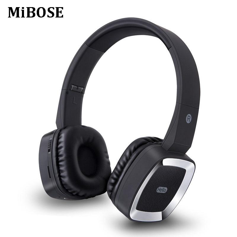 MiBOSE headphones Bluetooth Headset Wireless earphone Stereo Foldable Sport Earphone Microphone headset Handfree MP3 player ks 509 mp3 player stereo headset headphones w tf card slot fm black
