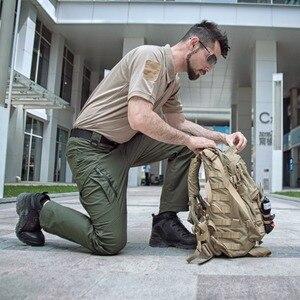 Image 5 - ハイキングリップストップ防水軍事男性の戦術的なカーゴパンツ屋外スポーツマウンテントレッキング釣りハンティングパンツ