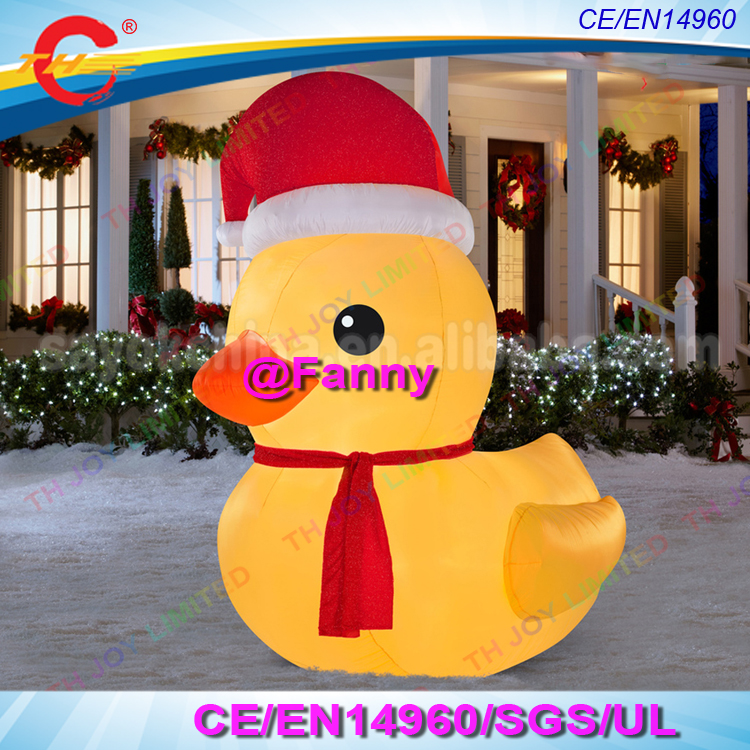 Christmas Inflatables.Us 350 0 3m 4m 6m Giant Inflatable Christmas Duck Inflatable Santa Claus Cute Xmas Decoration Outdoor Christmas Inflatable Duck Statue In