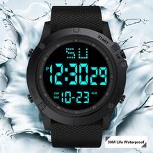 Модные мужские светодиодный цифровые часы водонепроницаемые военные спортивные резиновые кварцевые часы с будильником спортивные цифровые часы reloj hombre