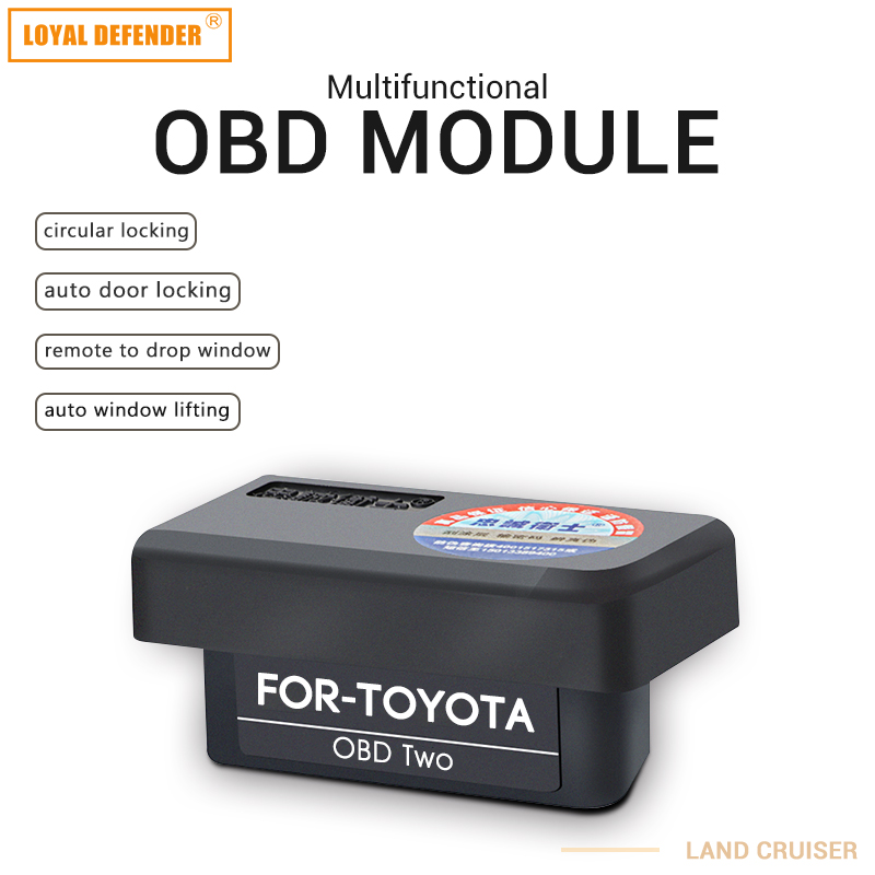Bil auto OBD for Toyota plug and play vindu lukking & hastighetslås & speil folding Auto OBD2 bryter