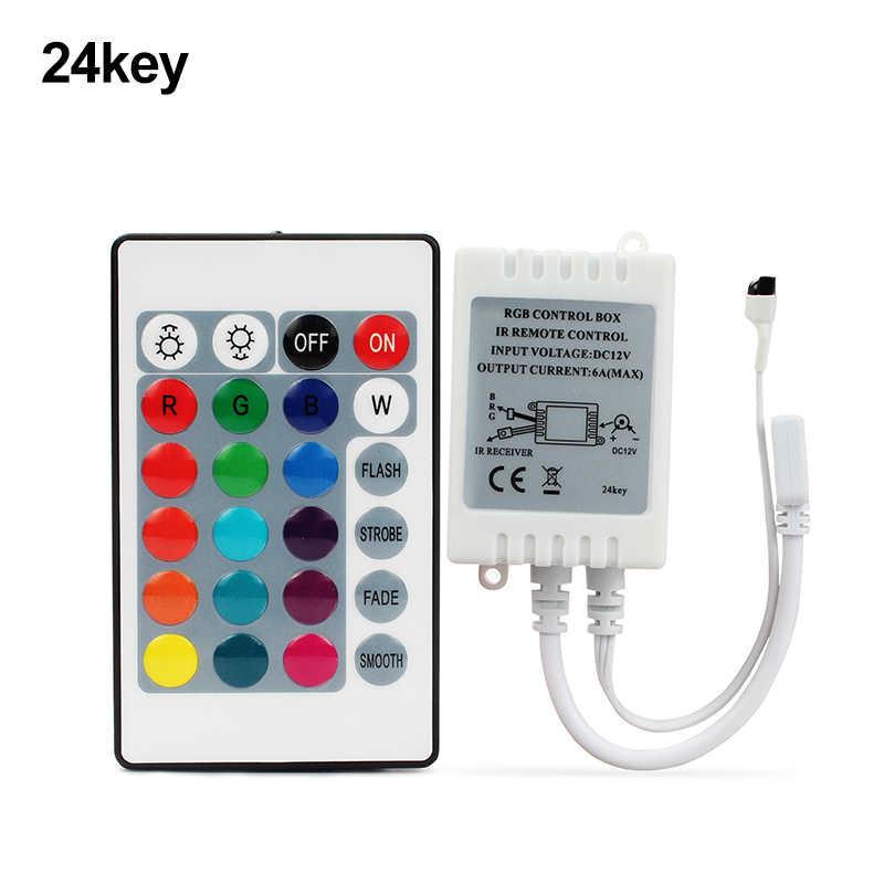 RGB IR пульт дистанционного управления 24key 44key DC12V для SMD 2835 3528 5050 5730 5630 3014 Светодиодные ленты света