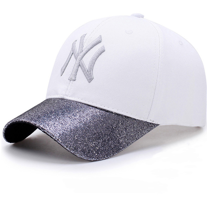 7d02821ecd97e 2018 Fashion Glitter Ponytail Cotton Baseball Cap Women Snapback Hat Summer Messy  Bun Mesh Hats Casual Adjustable Sport Caps