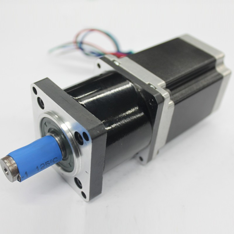 Ratio 96:1 NEMA34  Stepper Motor 86*118mm 8.5NM 1220Oz-in 6A 4 Wires with Planetary Gearbox Reducer Kit High Torque for CNCRatio 96:1 NEMA34  Stepper Motor 86*118mm 8.5NM 1220Oz-in 6A 4 Wires with Planetary Gearbox Reducer Kit High Torque for CNC