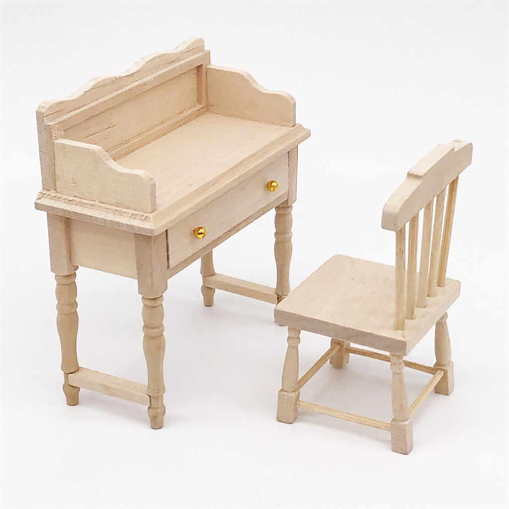 Аксессуары для куклы Поддельные Мини Миниатюрный стол для 1:12 деревянный кукольный домик фурнитура стола Модель Комплект детских игрушек подарок T9 #