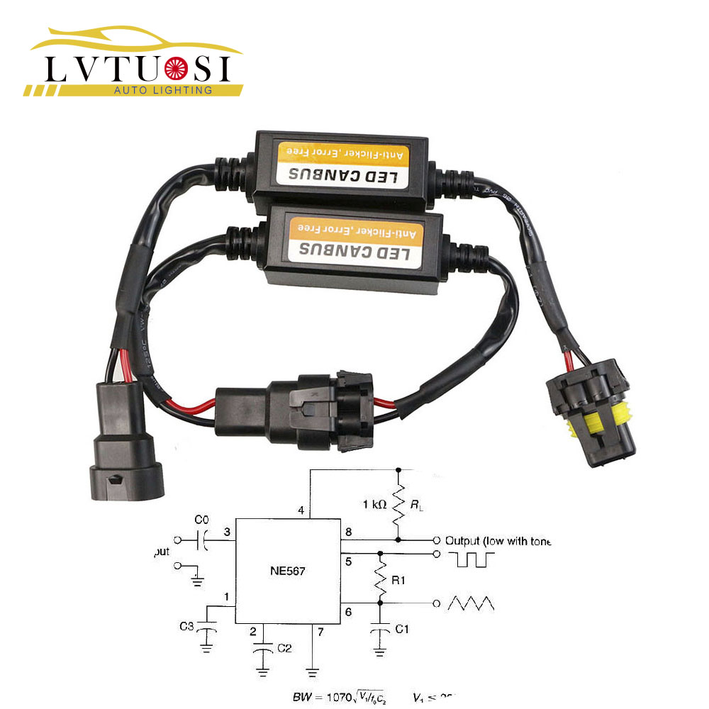 LVTUSI H4 / H7 / H8 / H11 / H13 / HB3 (9005) / HB4 (9006) Canbus Wiring Harness Adapter LED Car Headlight Bulb Auto Light LED CANBUS BE