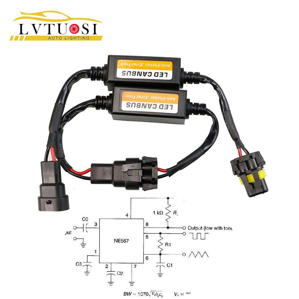 LVTUSI H4/H7/H8/H11/H13/HB3(9005)/HB4(9006) Canbus Wiring