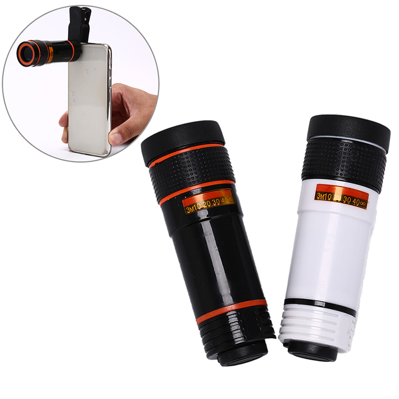 Universal Mobile Phone Telephoto Lens 12X Zoom Optical Telescope Camera Lens With Clips For Smartphone
