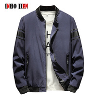 Autumn Bomber Jacket Men Fashion Casual Stand Collar Korean Men's Jackets and Coats Male Spring Green Windbreaker Outerwear 5XL
