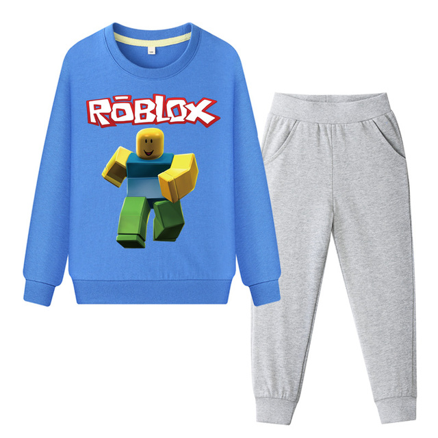 US $10 39 49% OFF Boys Girls Hoodies Pant Clothes Suit Children 2019 Spring  Clothing Sets Kids Roblox Game Sport Tracksuit Baby Outfits Suit DY013-in