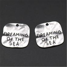 Wkoud 5 шт квадратного типа серебряный цвет мечта о море Шарм