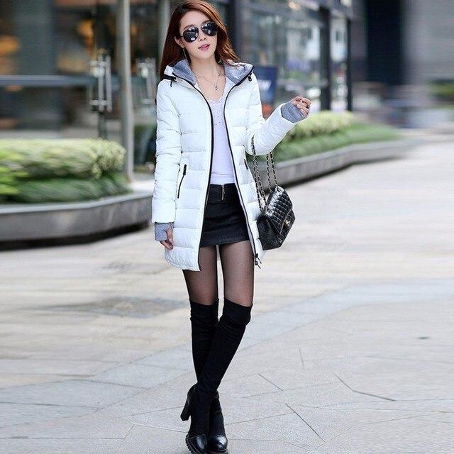 N.XINZHE 2017 Winter jacket women Coat Hooded Slim Wadded Parkas Wear Winter Coats Outwear for Lady chaqueta mujer  3