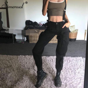 a2464a86ae2b49 Simenual high waist pants with 2018 harajuku black joggers