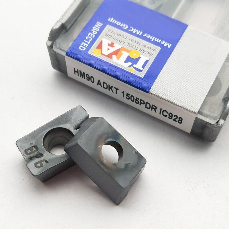 10 PCS ISCAR HM90 ADKT 1505PDR IC908 INSERT