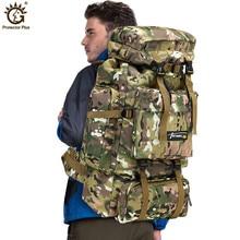 70L Large Capacity Backpack Nylon Waterproof Military Tactics Molle Army Bag Men Backpack Rucksack for Hike Travel Backpacks цена 2017