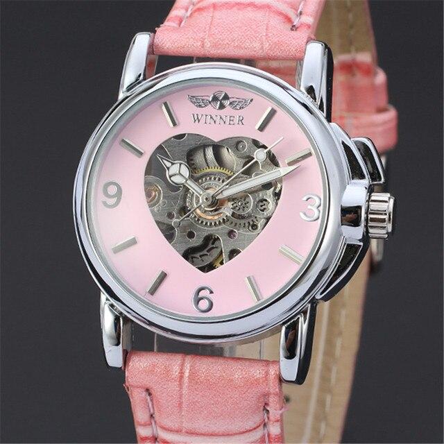 1de3133f895 VENCEDOR Relógio Mecânico Automático do Relógio de Pulso Das Mulheres Das  Senhoras do Sexo Feminino Casual