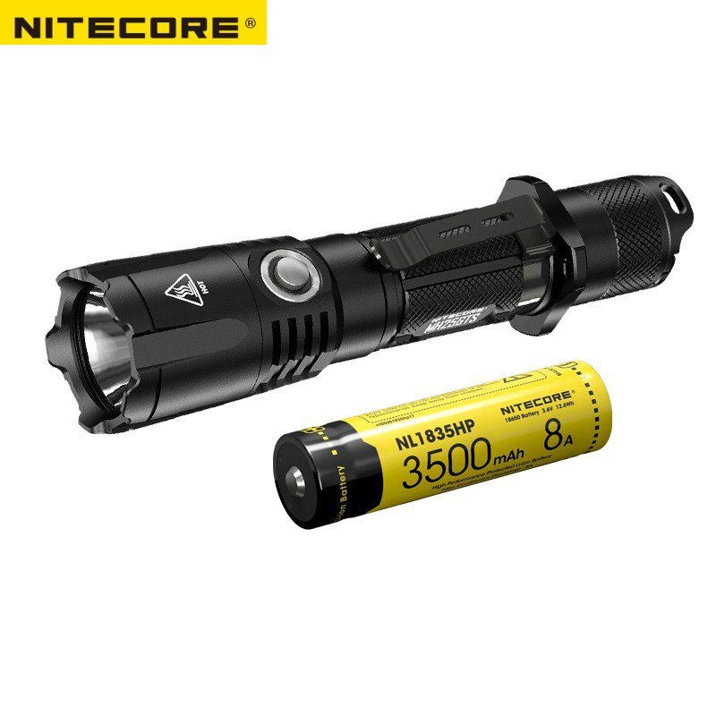 NITECORE MH25GTS CREE XHP35 HD LED 1800 Lumens USB Charging Tactical Flashlight With NITECORE NL1835HP Battery