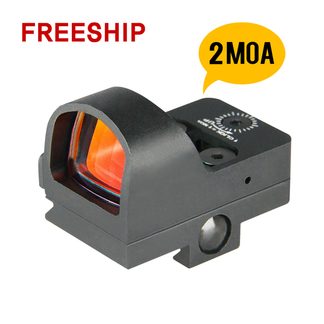 Freeshipping Canis Latrans 2MOA Reddot Mini Red Dot Sight Waterproof Magnification 1X for Real Hunting Outdoor Use PP2-0078