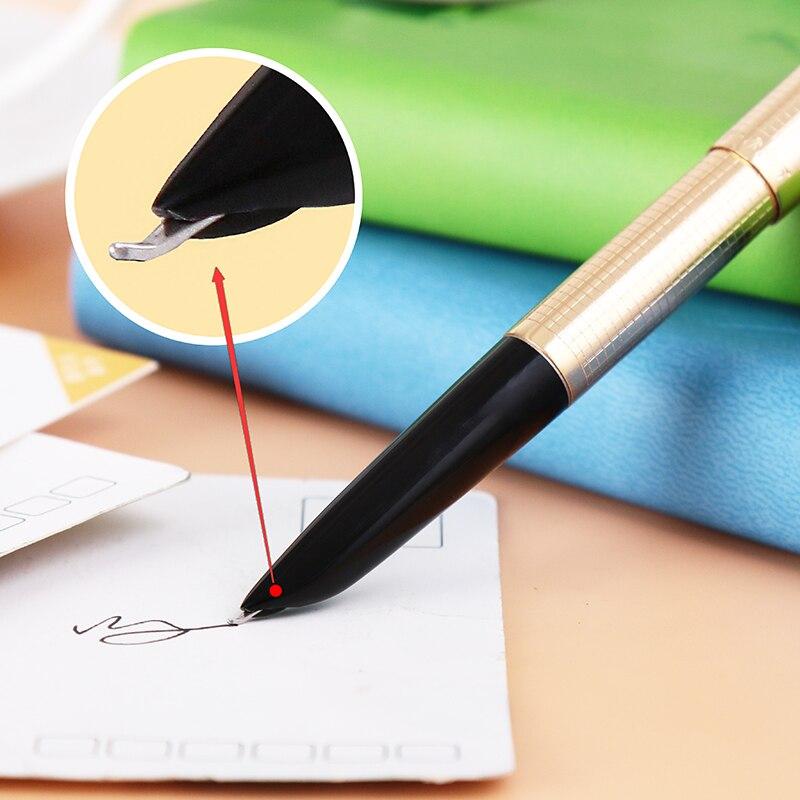 Hero 335 Pure Aluminium Calligraphy Pen Art Pen Bend Nib Classics Fountain Pen   FREE Shipping