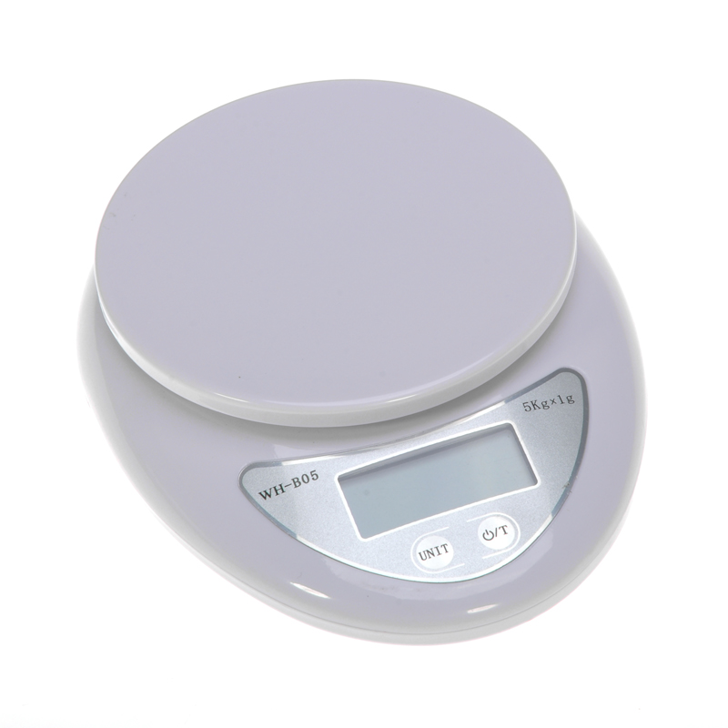 New 5kg Kitchen Scales Digital Balances LCD Electronic Scales Food Electronic Balance Measuring Weight Libra White high quality precise jewelry scale pocket mini 500g digital electronic balance brand weighing scales kitchen scales bs