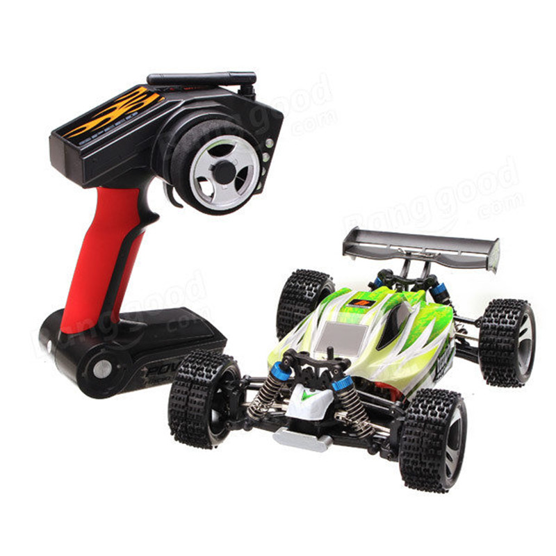 ФОТО 70km/h WLtoys A959-B 1/18 4WD Buggy Off Road 1:18 RC Car 2.4G Radio Control Truck RTR RC Buggy With Battery A959 Updated Version