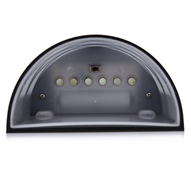 2PCS 6LEDs LED Solar Garden Light Waterproof IP55 Led Solar Lamp Outdoor Light Path Roof Corridor Wall Lamp Spot Lighting