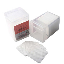 170 Pcs/Box Lint-Free Fast and Safe Eyelash Glue Remover Soft Non-woven Fabric Extension Cleaner Pads
