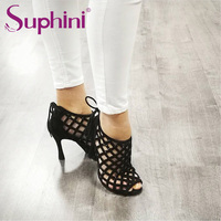 Free Shipping Suphini Latest Design Sexy Dance Shoes Snake Print Woman Dance Boots