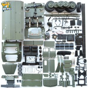 Image 1 - WPL B36 1:16 Ural RC Car 6WD Military Truck Rock Crawler Command Communication Vehicle KIT Toy Carrinho de controle