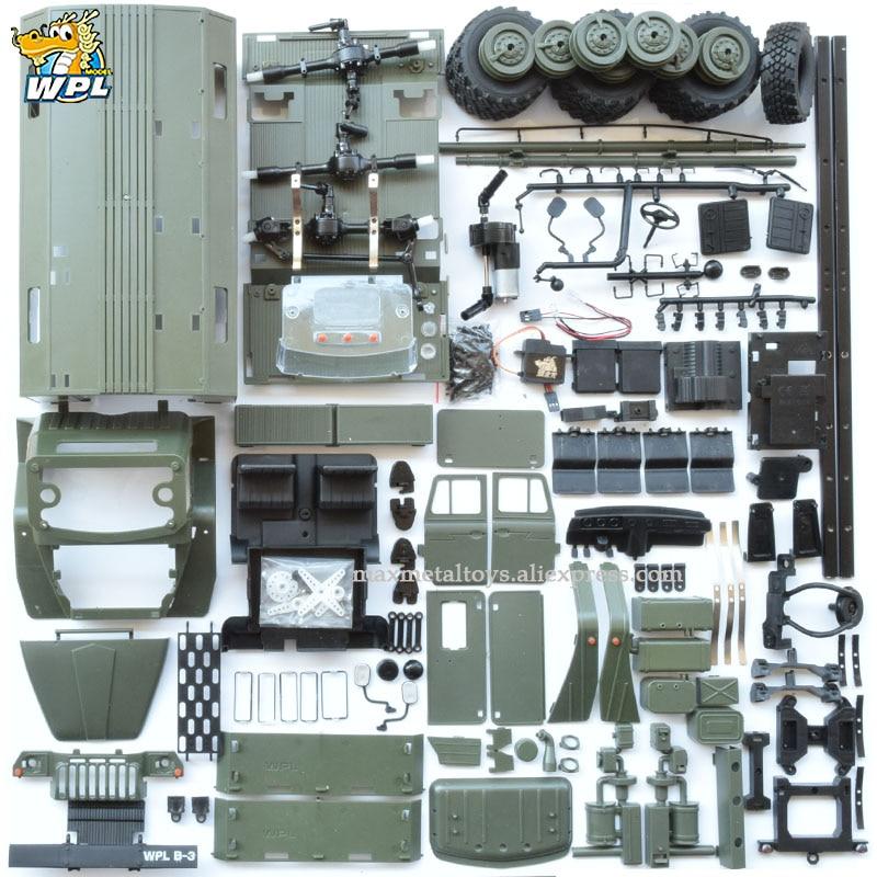 WPL B36 1:16 oural RC voiture 6WD camion militaire rocher chenille commande Communication véhicule KIT jouet Carrinho de controle