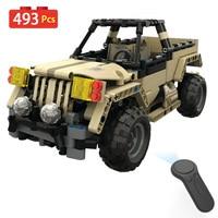 LegoINGLYS RC Technik Series Wireless Remote Control Car WW2 Radio Assembled Military Vehicles Tank Blocks Bricks Toys For Boys