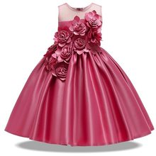 Girls Christmas Dress Elegant Party Princess 2019 Kids Dresses For Girls Toddler Wedding Dress Vestido Costume Kids 8 9 10 Years(China)