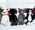40cm plush toy stuffed animal doll,talking anime toy black cat or white cat for girl kid kawaii cute cat chirstmas gift