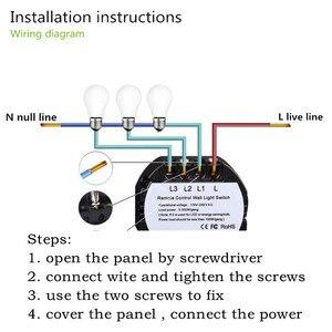 Image 5 - FUNRY EU/UK Standard remote control switch 2 gang 1 way pancel screen touch switch smart home switch EU RF 433mhz AC170V 240V