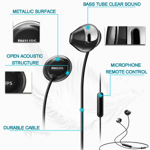 Image 3 - Philips SHE4205 Earphones Bass with Microphone  Wire Control In Earphone Noise Cancelling Earphone for Galaxy 8 Official Testing