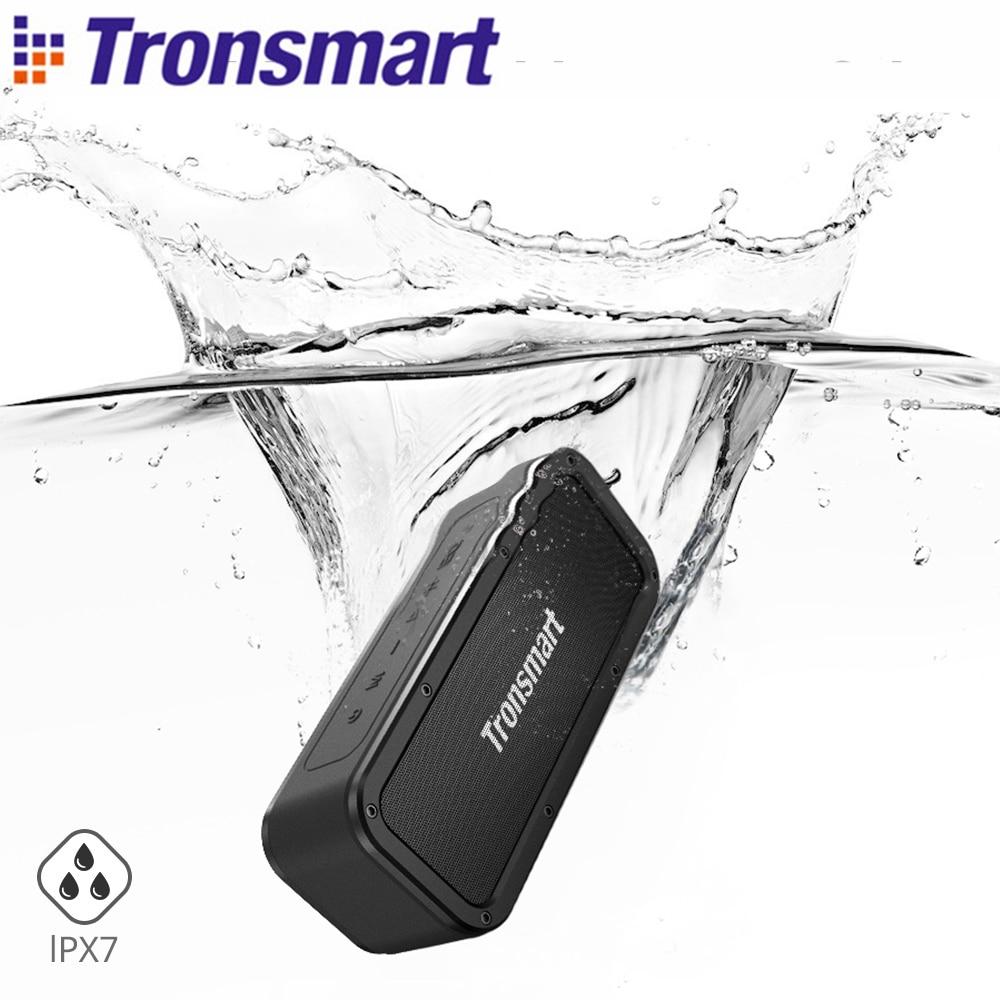 Tronsmart Force Portable Bluetooth Speaker IPX7 Waterproof Music surround Outdoor Speaker 40W Microphone Loudspeaker for phones цена