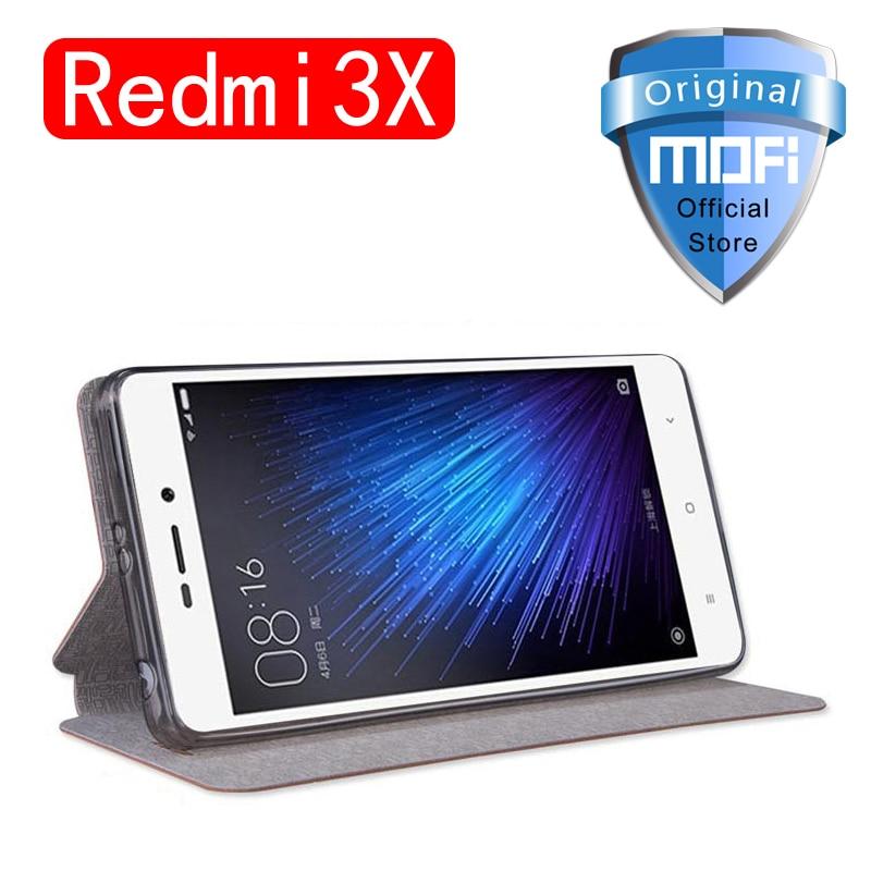 xiaomi redmi 3x case 5 0 inch mofi flip cover PU leather kickstand for redmi3x case