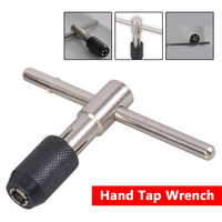 T-Handle Tap Wrench Chuck M3-M6 Hand Tool 1/8″-1/4″ T Type Screw Tap Holder Handle Adjustable Screw Tapping Threading Tool Tap & Die