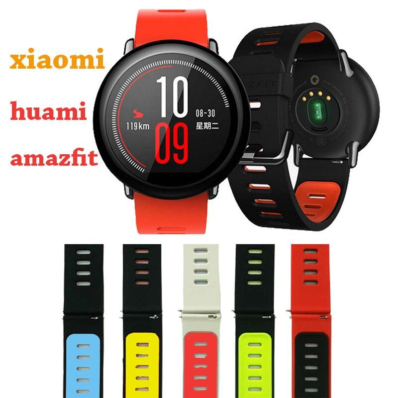 Sest Xiaomi Huami Amazfit Watch Silikoonist rihm Smart Watch jaoks Amazfit Sport Band asendage elektrooniline käekell bänd