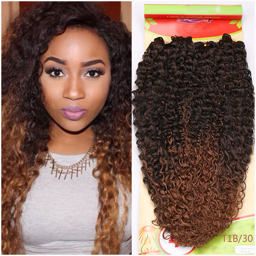 Premium New Kinky Wave Synthetic Hair Extension Curly Synthetic