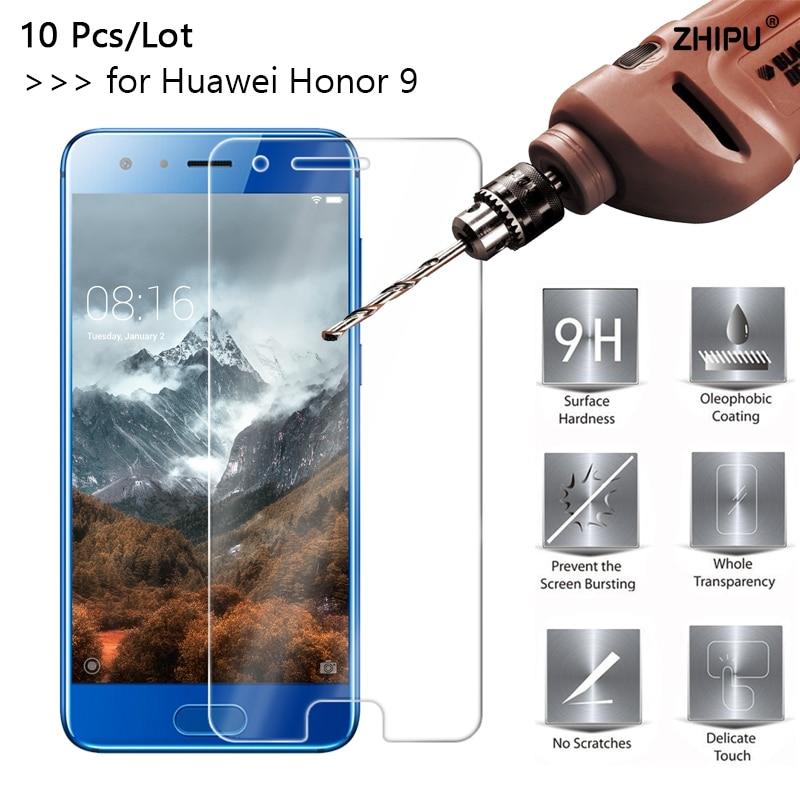 10 pçs/lote 2.5D 0.26 milímetros 9 9H Premium de Vidro Temperado Para Huawei Honra Protetor de Tela Temperado película protetora Para honra 9