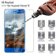 10 Pcs/Lot 2.5D 0.26mm 9H Premium Tempered Glass For Huawei Honor 9 Screen Protector Toughened protective film