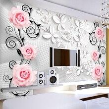 цена Modern Luxury wallpaper 3D wall mural papel de parede 3d photo wall paper flower contact paper papel de parede 3d  papel parede онлайн в 2017 году