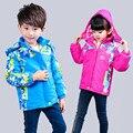 Jaqueta de inverno Para Meninas Grosso Quente Jaqueta de Alpinismo Esporte Crianças Meninos Outerwear Crianças Casaco De Veludo camuflagem Caminhadas Nova