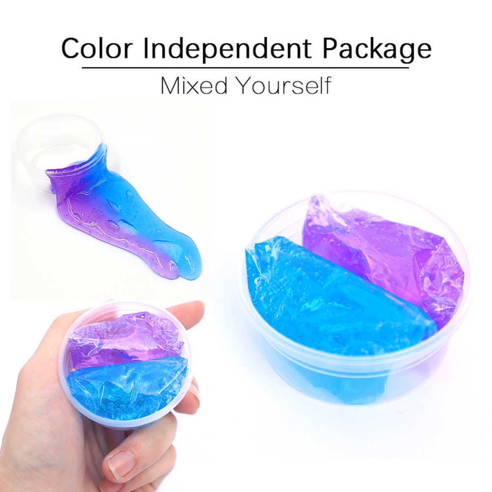 Fluffy Slime Supplies Goo DIY Air Soft Clay Polymer Foam Ball Light Cotton Putty Charms Slime Toys Kit for Antistress Kids