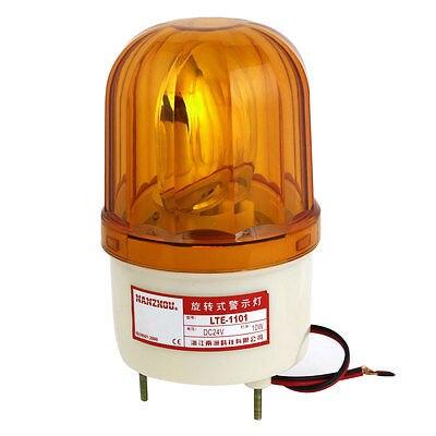 Alarm System Yellow Rotating Industrial Signal Warning Light DC 24V 10W LTE-1101