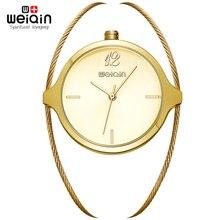 WEIQIN 2017 de Lujo Reloj de Las Mujeres Famosas Marcas de Diseño de Moda de Oro Pulsera Relojes Señoras de Las Mujeres Relojes de Pulsera Relogio Femininos