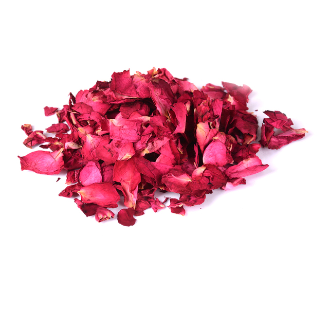 Romantic 30/50/100g Natural Dried Rose Petals Bath Dry Flower Petal Spa Whitening Shower Aromatherapy Bathing Supply 4