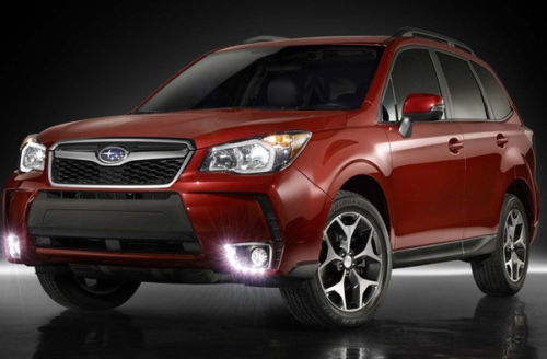 Free shipping 2x car-styling Bright LED Daytime Running Fog Lights Lamp DRL For Subaru Forester 2013-2014 1 set led daytime running lights front driving fog lamps drl for subaru forester 2014